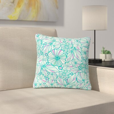 Julia Grifol My Flowers Outdoor Throw Pillow Size: 16 H x 16 W x 5 D