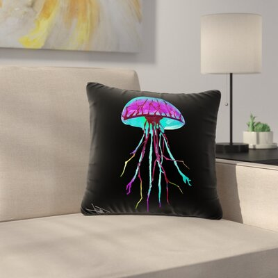 Ivan Joh Night of Jellyfish Outdoor Throw Pillow Size: 16 H x 16 W x 5 D