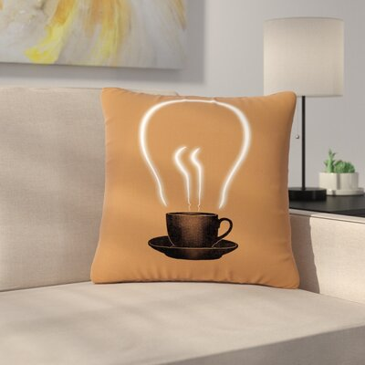 Digital Carbine The Power of Coffee Food Outdoor Throw Pillow Size: 16 H x 16 W x 5 D