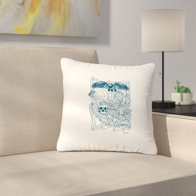 BarmalisiRTB Tidal Wave Illustration Outdoor Throw Pillow Size: 18 H x 18 W x 5 D