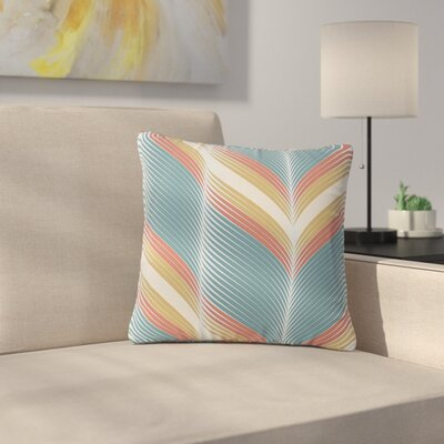 Karina Edde Wavy Chevron Outdoor Throw Pillow Size: 16 H x 16 W x 5 D
