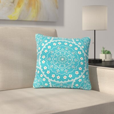 Cristina Bianco Mandala Floral Outdoor Throw Pillow Size: 16 H x 16 W x 5 D