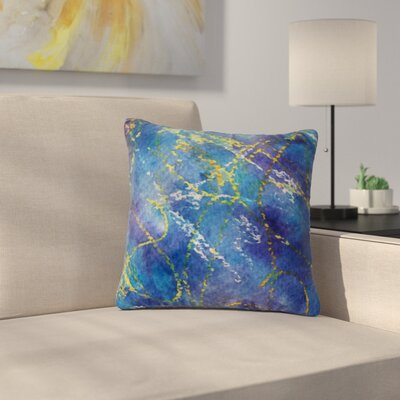 Cyndi Steen Deep Abstract Outdoor Throw Pillow Size: 18 H x 18 W x 5 D