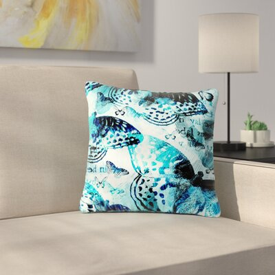 Li Zamperini Butterfly Abstract Outdoor Throw Pillow Size: 16 H x 16 W x 5 D
