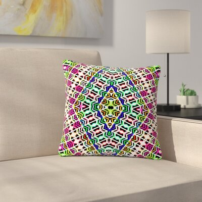 Dawid Roc Colorful Tribal Pattern Outdoor Throw Pillow Size: 18 H x 18 W x 5 D