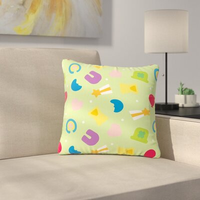 Charms of Luck Outdoor Throw Pillow Size: 18 H x 18 W x 5 D