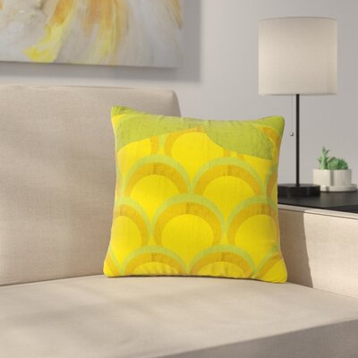 Kathleen Kelly Pineapple Digital Food Outdoor Throw Pillow Size: 16 H x 16 W x 5 D