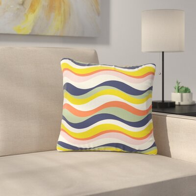 Gukuuki Rainbow Stripes Stripe Outdoor Throw Pillow Size: 16 H x 16 W x 5 D