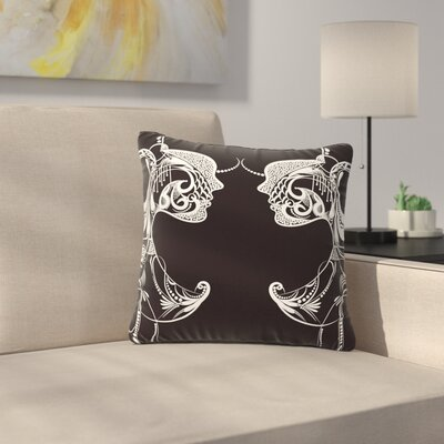 Maria Bazarova Two Women Outdoor Throw Pillow Size: 16 H x 16 W x 5 D