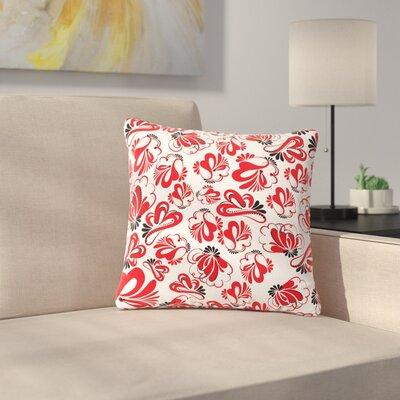 Maria Bazarova Flowers Floral Outdoor Throw Pillow Size: 18 H x 18 W x 5 D