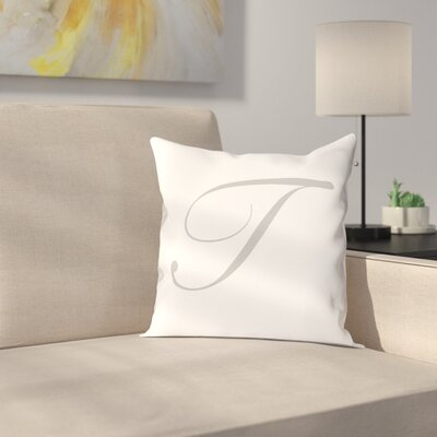 Bradley Personalized Script Initial Throw Pillow Letter: T
