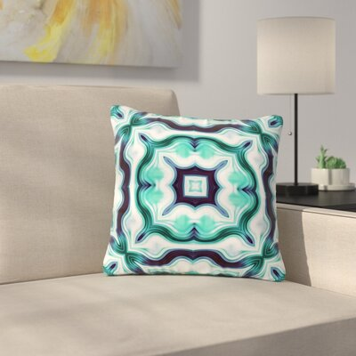 Dawid Roc Vintage Flower Pattern 3 Abstract Outdoor Throw Pillow Size: 16 H x 16 W x 5 D