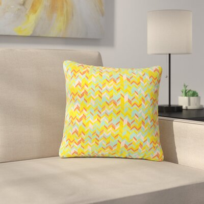 Allison Soupcoff Chevron Pop Pattern Outdoor Throw Pillow Size: 16 H x 16 W x 5 D