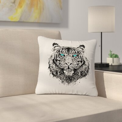 BarmalisiRTB TIger Gaze Outdoor Throw Pillow Size: 16 H x 16 W x 5 D