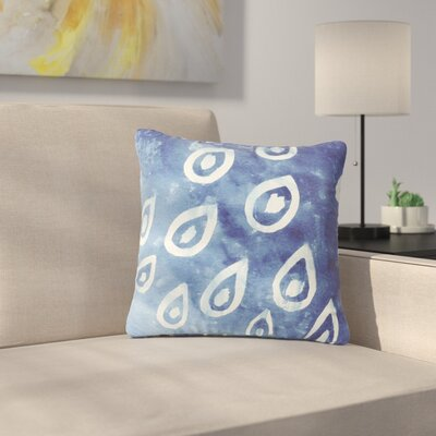 Jennifer Rizzo Drops of Vintage Indigo Outdoor Throw Pillow Size: 16 H x 16 W x 5 D
