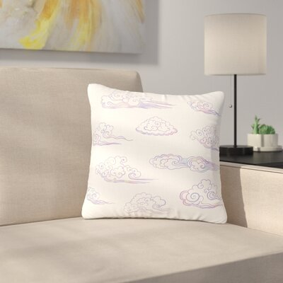 Cloud Poofs Outdoor Throw Pillow Size: 18 H x 18 W x 5 D