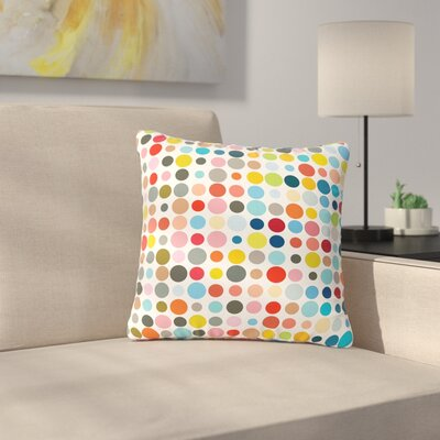 Fimbis Tangled up in Colour Outdoor Throw Pillow Size: 18 H x 18 W x 5 D