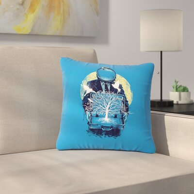 Digital Carbine  a New Life Illustration Outdoor Throw Pillow Size: 18 H x 18 W x 5 D