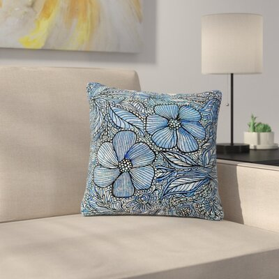 Julia Grifol Flowers in My Garden Outdoor Throw Pillow Size: 18 H x 18 W x 5 D