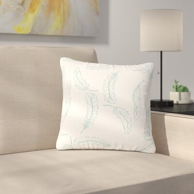 Jennifer Rizzo Floating Feathers Outdoor Throw Pillow Size: 18 H x 18 W x 5 D