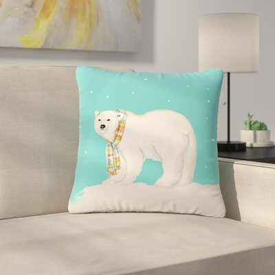 Jennifer Rizzo Chilly Snow Bear Outdoor Throw Pillow Size: 16 H x 16 W x 5 D
