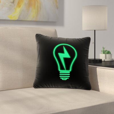 BarmalisiRTB Thunder Bulb Outdoor Throw Pillow Size: 16 H x 16 W x 5 D