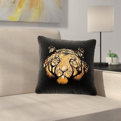 Digital Carbine Hidden Hunter Illustration Outdoor Throw Pillow Size: 16 H x 16 W x 5 D