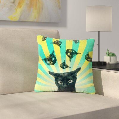 Cvetelina Todorova Cat Explosion Outdoor Throw Pillow Size: 18 H x 18 W x 5 D