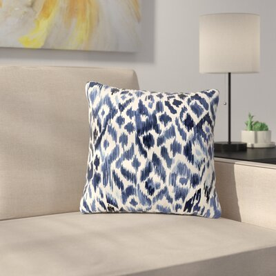 Crystal Walen Leopard Tribal - Indigo Outdoor Throw Pillow Size: 18 H x 18 W x 5 D