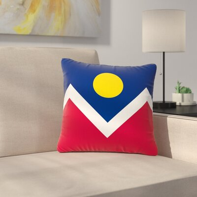 Bruce Stanfield Denver Colorado City Flag Vector Geometric Outdoor Throw Pillow Size: 16 H x 16 W x 5 D