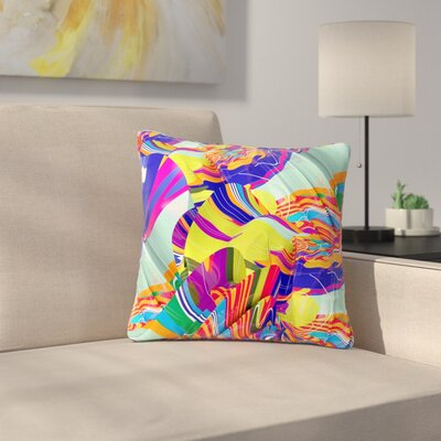 Danny Ivan to Swim Abstract Outdoor Throw Pillow Size: 18 H x 18 W x 5 D