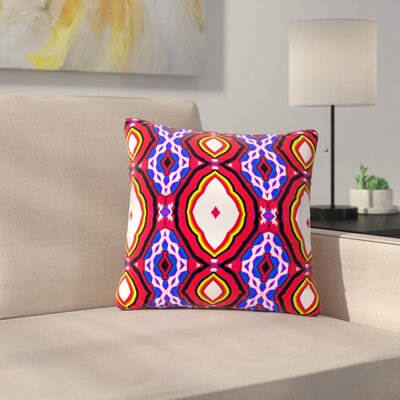 Dawid Roc Inspired by Psychedelic Art Abstract Outdoor Throw Pillow Size: 16 H x 16 W x 5 D, Color: Red