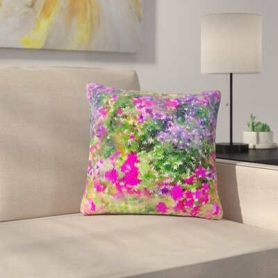 Carolyn Greifeld Water Florals Outdoor Throw Pillow Size: 18 H x 18 W x 5 D
