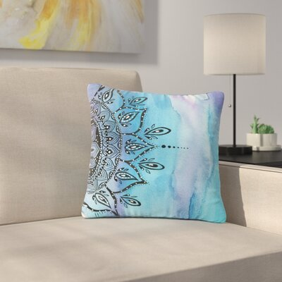 Li Zamperini Mandala Abstract Outdoor Throw Pillow Size: 18 H x 18 W x 5 D, Color: Blue
