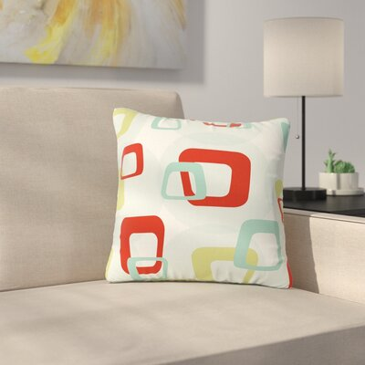 Retro Squares Outdoor Throw Pillow Size: 16 H x 16 W x 5 D