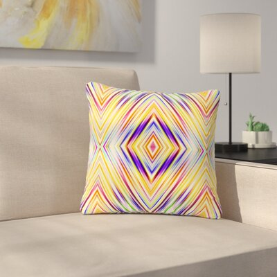 Dawid Roc Colorful Tribal Ethnic Ikat Pattern Outdoor Throw Pillow Size: 18 H x 18 W x 5 D