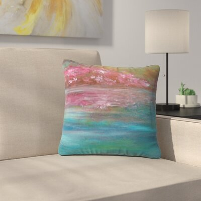 Cyndi Steen Bougainvillea Reflections Outdoor Throw Pillow Size: 18 H x 18 W x 5 D