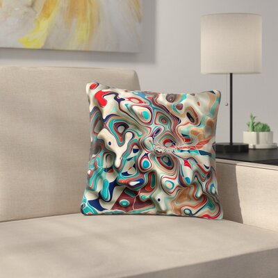 Danny Ivan Weird Surface Outdoor Throw Pillow Size: 18 H x 18 W x 5 D
