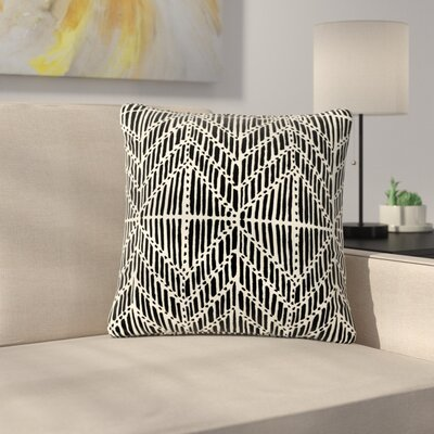 DLKG Design Tribal Drawings Chevron Outdoor Throw Pillow Size: 18 H x 18 W x 5 D