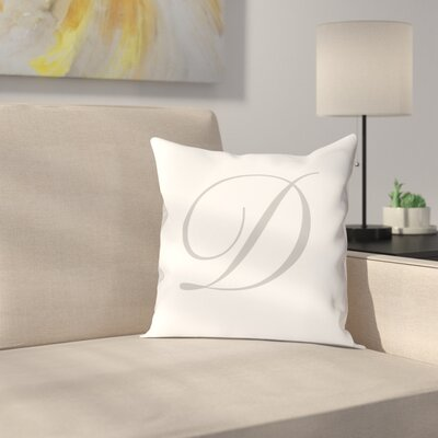 Bradley Personalized Script Initial Throw Pillow Letter: D