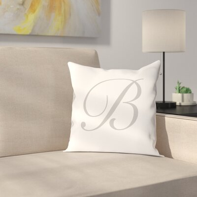 Bradley Personalized Script Initial Throw Pillow Letter: B