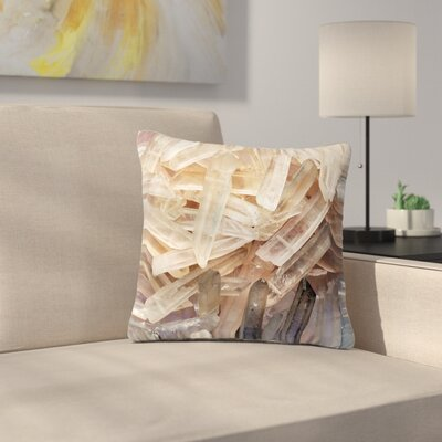 Crystal Cluster Outdoor Throw Pillow Size: 18
