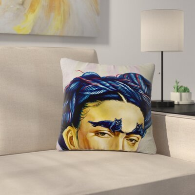 Jared Yamahata Frida Katlo People Outdoor Throw Pillow Size: 18 H x 18 W x 5 D