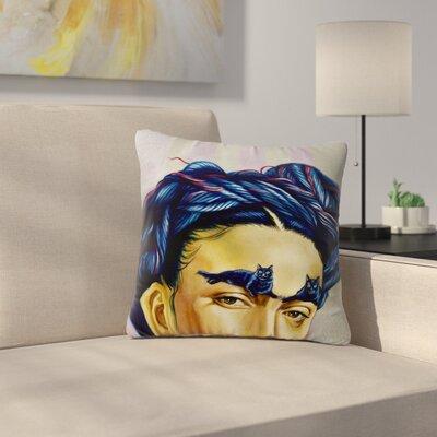 Jared Yamahata Frida Katlo People Outdoor Throw Pillow Size: 16 H x 16 W x 5 D