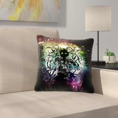 Frederic Levy-Hadida Terror From Deep Space Outdoor Throw Pillow Size: 18 H x 18 W x 5 D