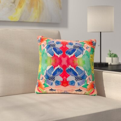 Gukuuki Spring Time Floral Outdoor Throw Pillow Size: 16 H x 16 W x 5 D
