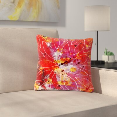 Li Zamperini Flame Outdoor Throw Pillow Size: 16