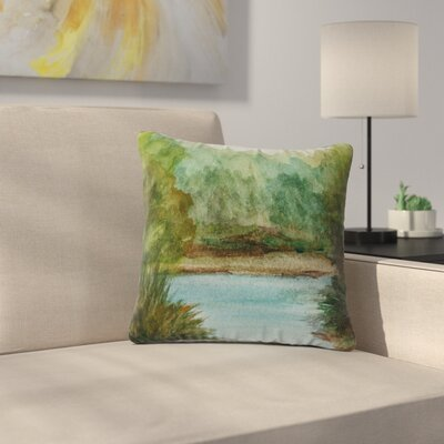 Cyndi Steen Lake Channel Outdoor Throw Pillow Size: 16 H x 16 W x 5 D