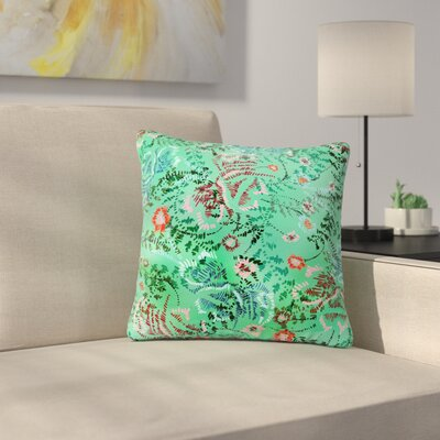 Fernanda Sternieri African Romance Outdoor Throw Pillow Size: 18 H x 18 W x 5 D, Color: Green