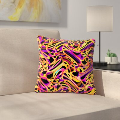 Dawid Roc Camouflage FreeForm Movement Digital Outdoor Throw Pillow Size: 18 H x 18 W x 5 D, Color: Orange